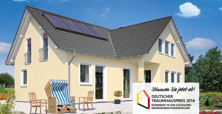Massivhaus Domizil 192 von Town & Country Haus für den Deutschen Traumhauspreis 2014 nominiert – Voten Sie mit!
