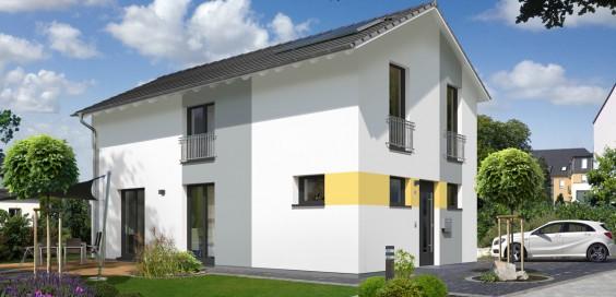 neu bei town country kompaktes massivhaus f r schmale grundst cke das stadthaus aura 125. Black Bedroom Furniture Sets. Home Design Ideas