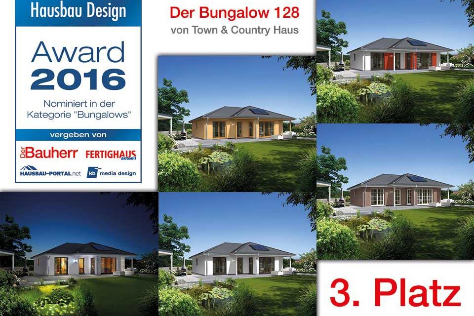 Hausbau-Design Award: Town & Country Haus belegt Rang 3 mit Bungalow 128