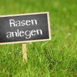 Das neue Massivhaus:  Rasen anlegen im Garten