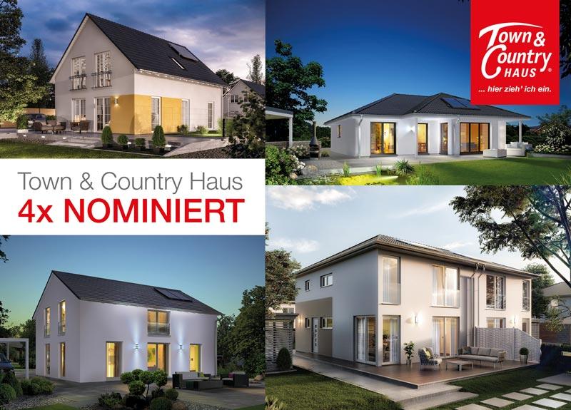 Massivhäuser von Town & Country gleich in vier Kategorien beim Hausbau Design Award 2017 nominiert