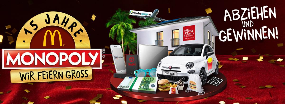 Traumhaus beim McDonald´s Monopoly gewinnen –  Essen, abziehen und jubeln!