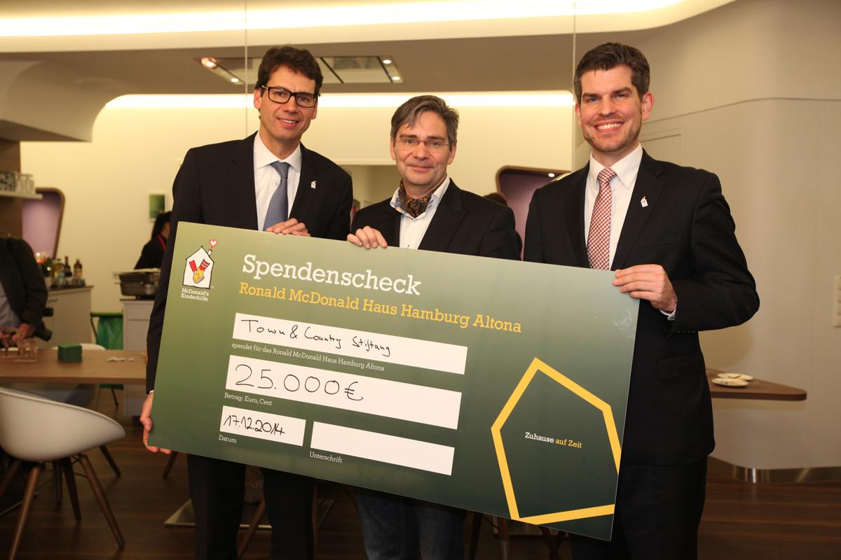 25.000 Euro für McDonald's Kinderhilfe Stiftung