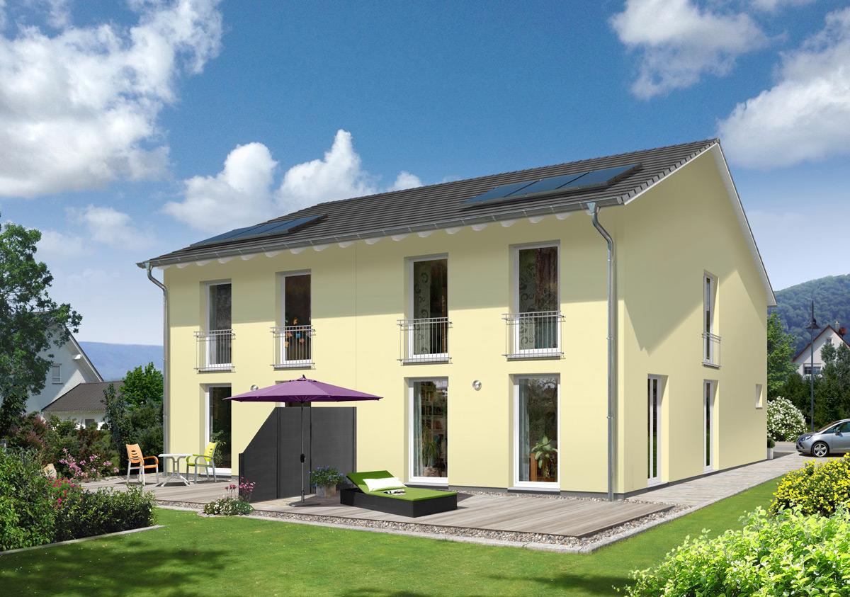 Neu bei Town & Country Haus: Schlankes Doppelhaus für kleine Grundstücke
