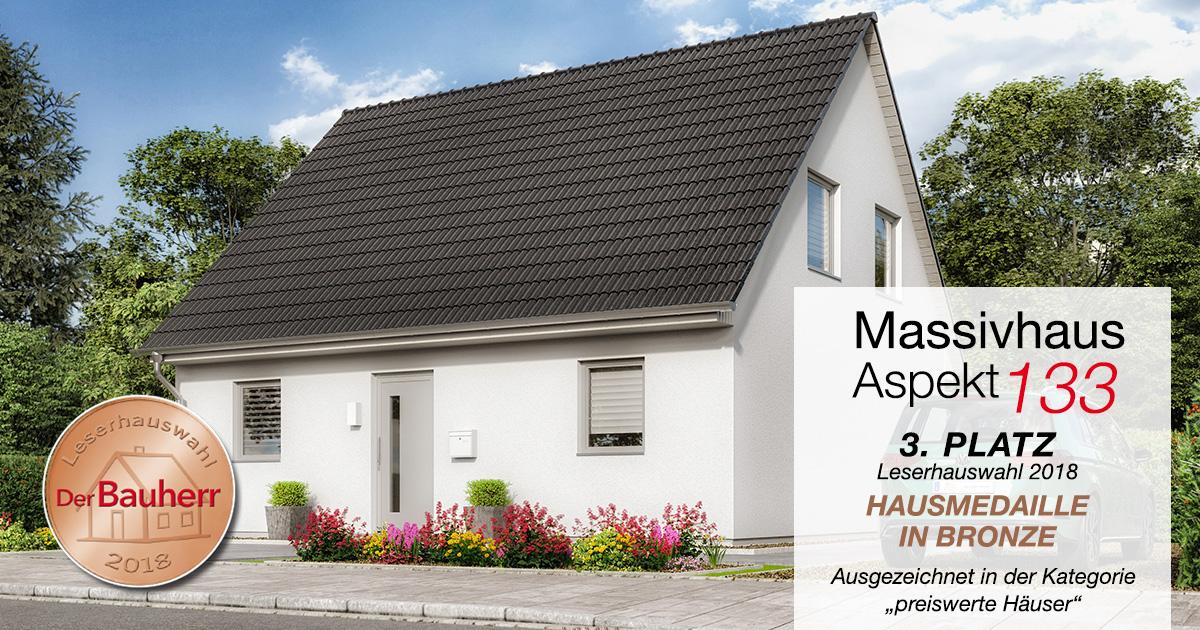 hausmedaille in bronze f r massivhaus aspekt 133. Black Bedroom Furniture Sets. Home Design Ideas