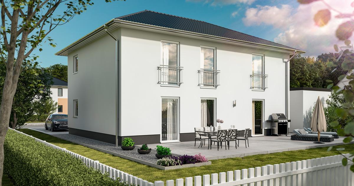 """Stadthaus für 2 Familien: Das neue Massivhaus """"Flair 180 Duo"""""""