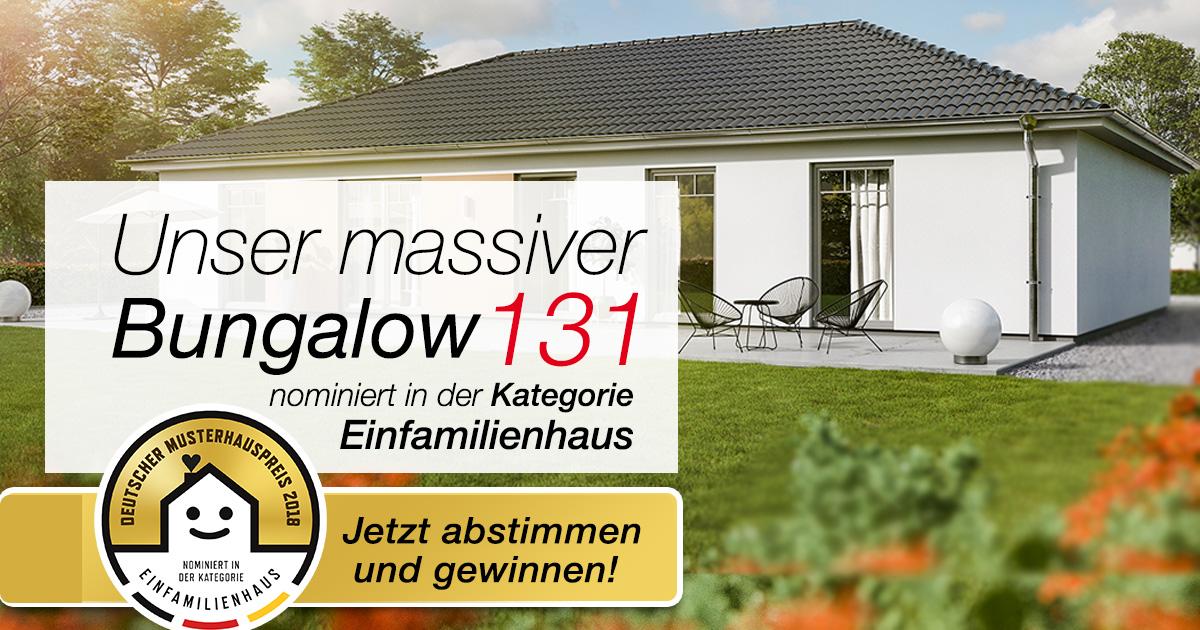 Deutscher Musterhauspreis 2018: Bungalow 131 ist nominiert!
