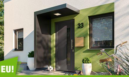 Sicher und geschützt unter den neuen Vordächern der Stadthäuser